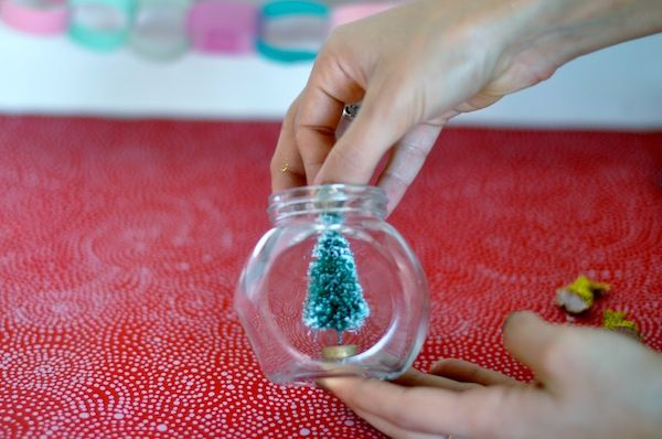 diy make your own glitter snow globe holiday winter christmas craft easy