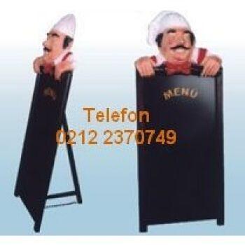Aşçılı Menü Yazma Tahtası Satış Telefonu 0212 2370750 En kaliteli menü mankenleri döner maketleri aşçı heykellerinin tüm modellerinin en uygun fiyatlarıyla satış telefonu 0212 2370749