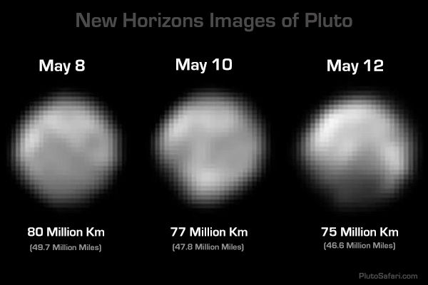 New Horizons Images of Pluto from May 8-11