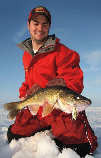 Ice fishing walleye in fisherman ice fishing for Ice fishing for walleye