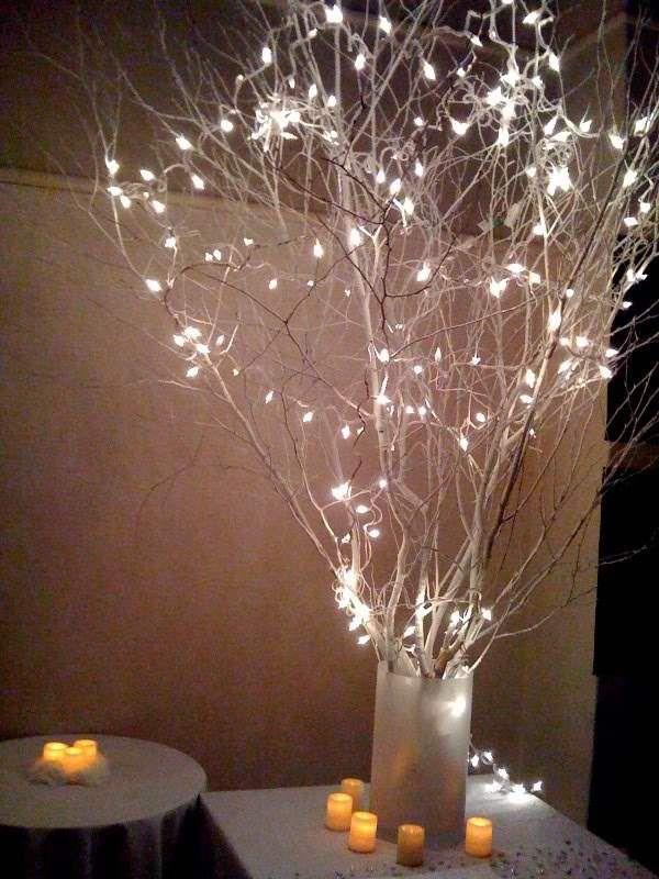arboles con luces para centros de mesa - Buscar con Google