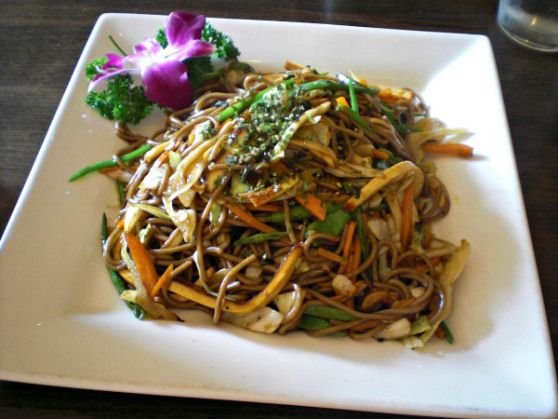 #Vegan Stir-Fried Soba Noodles with Vegetables and Tofu at Dao Palate in #Brooklyn