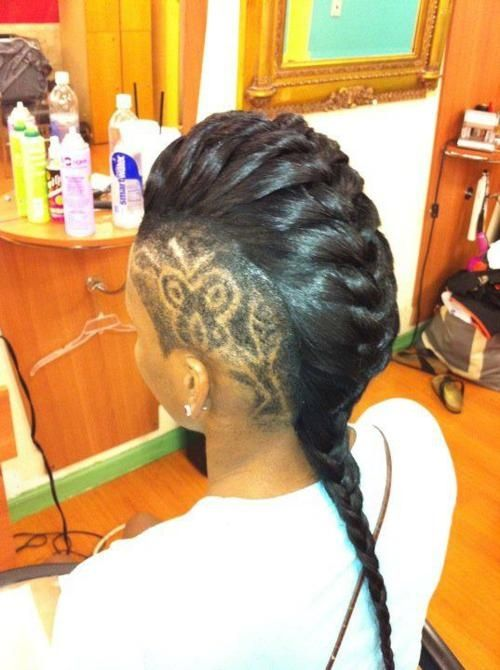 Mohawk Braid With Shaved Sides Stylez For Hair Amp Make Up