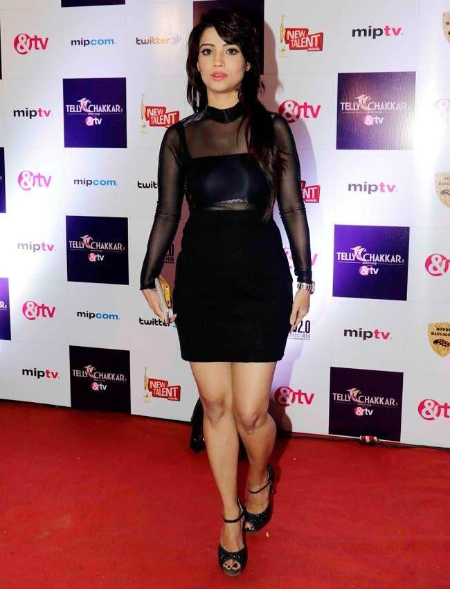 Adaa Khan at Tellychakkar's 11th anniversary bash. #Bollywood #Fashion #Style #Beauty #Hot #Sexy
