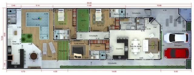 Home Design 10x30m With 3 Bedrooms House Design Home Design Plan Design