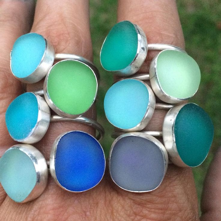 New rings made today!!! #nola #frenchmarket #seaglass #seaglassjewelry #rings #frenchquarter #indigograffiti