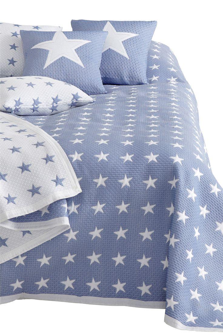 Ellos Home Sengeteppe Bess 150x250 cm Sov under stjernene! Jacquardvevd sengeteppe av 50% polyester og 50% polypropylen. Finvask 40°.  <br><br>100% polyester<br>Vask 40°