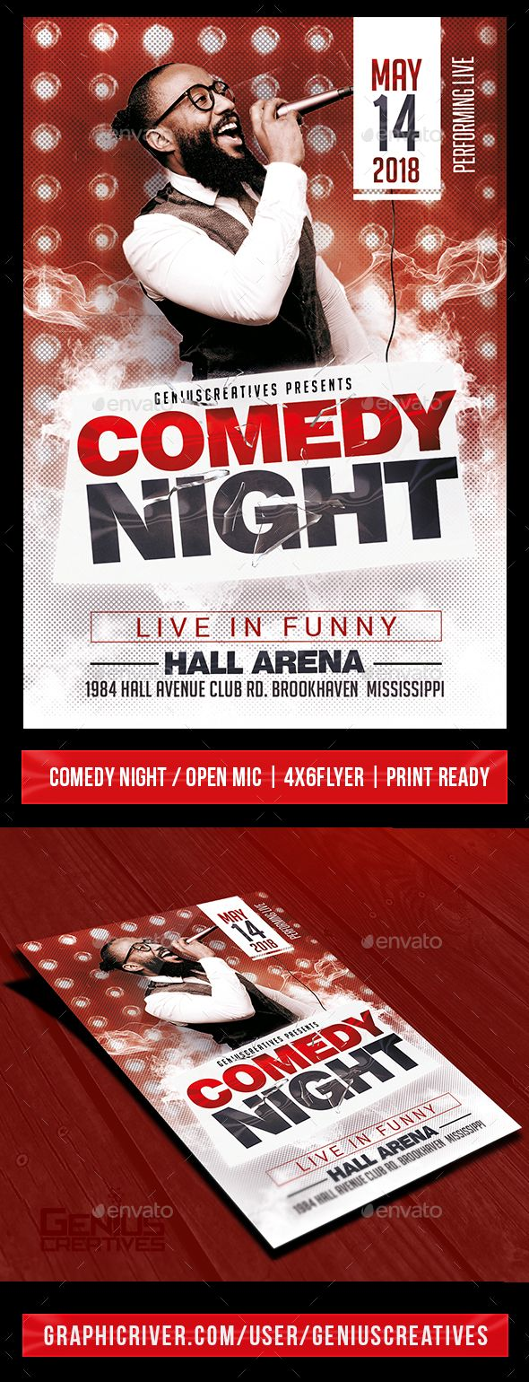 Comedy Show Open Mic Flyer Template. Print-templates Flyers Events. Tags Comedians, comedy, comedy hours, comedy night, comedy show, dance, event, flyer, fun, funny, gospel, humor, improv, jam, karaoke, laugh, night, open mic, party, poster, singing, soul comedy, and stand up comedy.