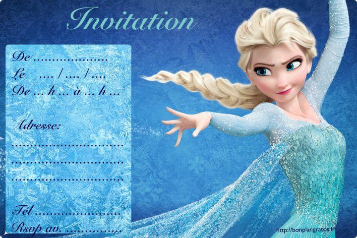Carte d'invitation gratuite à télécharger et à imprimer (invitation anniversaire...): Spiderman, Chevalier, Pirate, Reine des Neiges, Clochette...