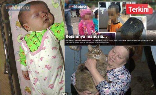 Kasih Kucing Jalanan Kepada Bayi Yang Ditinggalkan Kesejukan Di Tangga Flat  Jika tidak kerana kucing jalanan, bayi lelaki berusia antara dua hingga tiga bulan yang ditinggalkan dalam kotak di tangga luar flat Obninsk, wilayah Kaluga, di sini,...