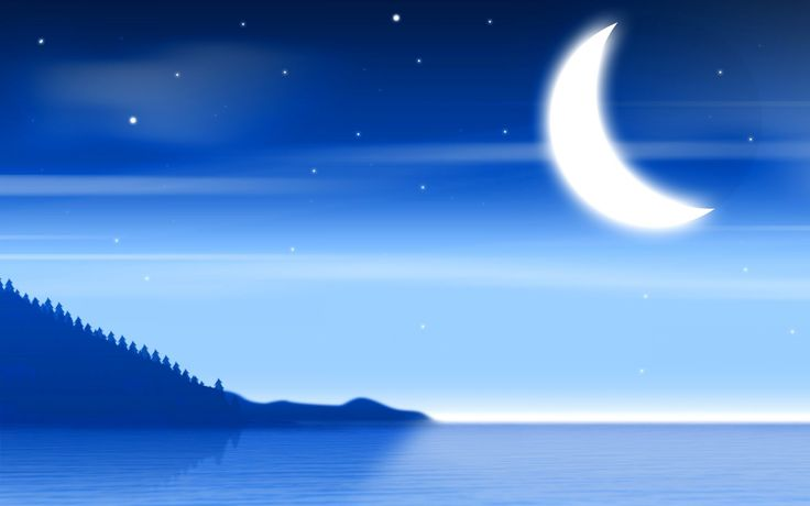 Mountain Sea Moon Hd