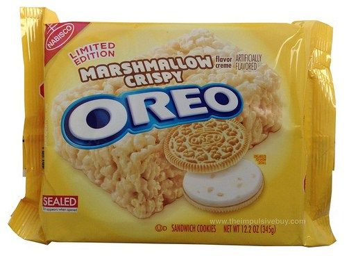REVIEW: Nabisco Limited Edition Marshmallow Crispy Oreo Cookies ...
