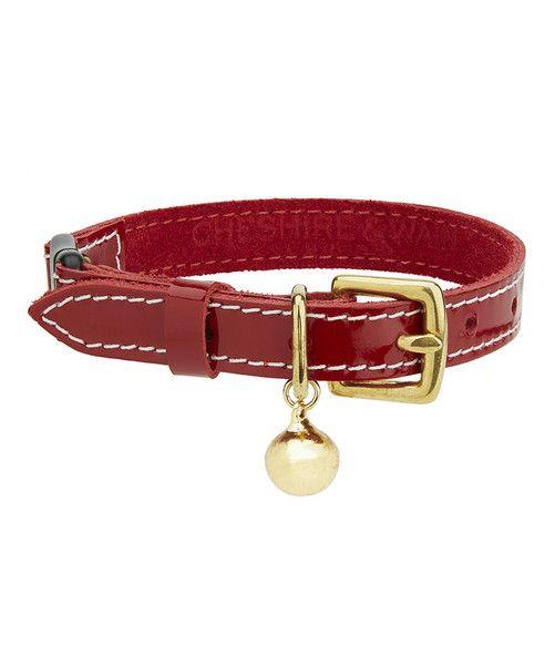 Collar Deluxe para Gato Rojo Brillante - katsdoks