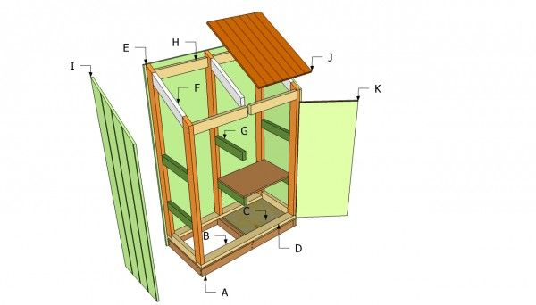 10 best images about shed plans building kits on for Equipment shed plans free