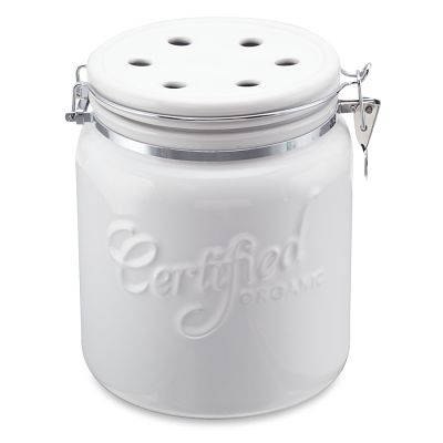i love the ceramic compost pail on