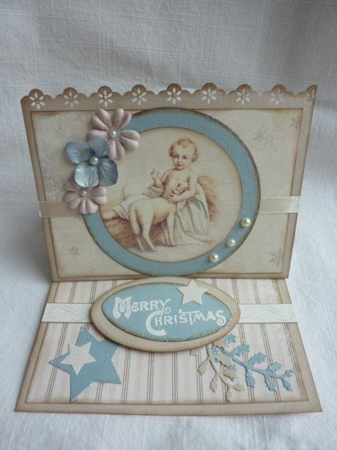 Easel Weihnachtskarte