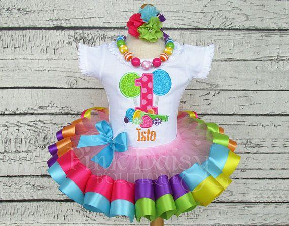 Traje de cumpleaños de Candyland  dulce Shoppe  arco iris