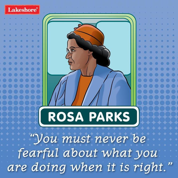 """""""You must never be fearful about what you are doing when it is right.""""–Rosa Parks   Today is a very special day—it's the 62nd anniversary of Rosa Parks becoming an icon for change. When she refused to give up her seat on a bus, Parks ignited the U.S. civil rights movement—and changed the world. ✨  .  .  .  #lakeshorelearning #rosaparks #rosaparksday #weareallequal #diversity"""