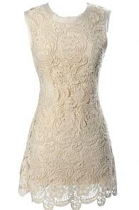 $48 Victorian Crochet Lace Dress..beautiful for a rehearsal dinner