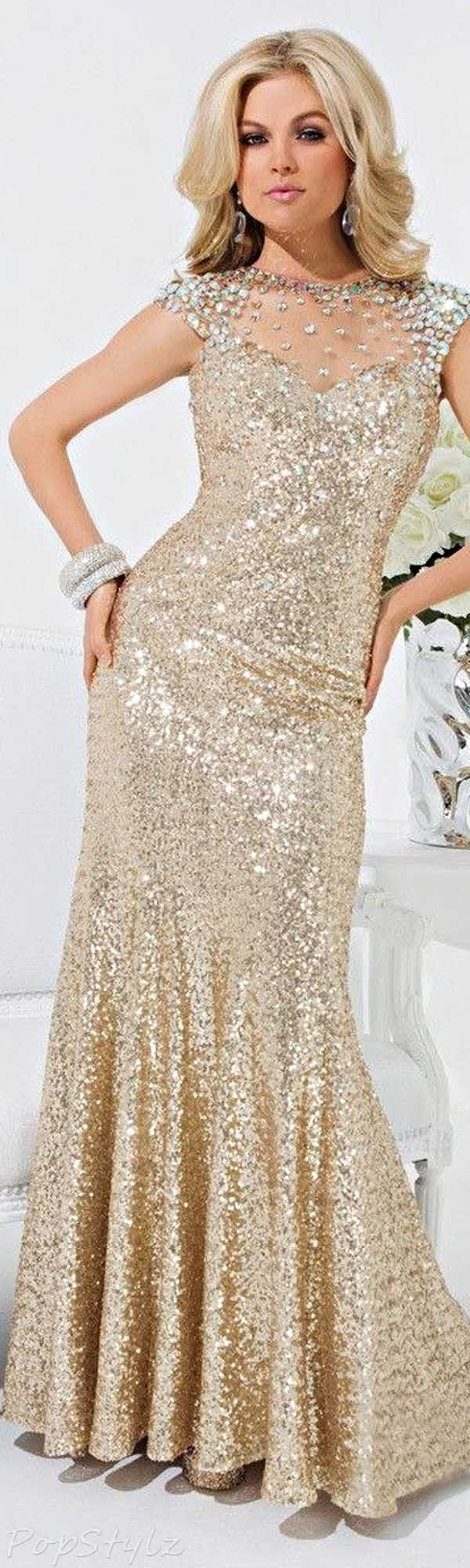 Tony Bowls 114539 Sequin Evening Gown