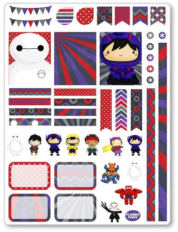 Robot Heroes decoración Kit / extensión semanal por PlannerPenny