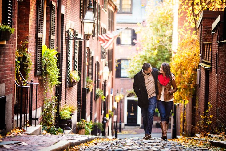 Boston's Acorn Street engagement photos by http://TheStoryPhotography.com