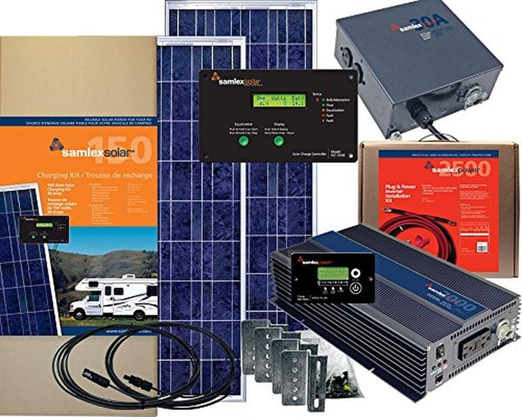 Samlex SRV-300-BNDL 300 Watt Solar System Bundle with Charge Controller, Inverter, Transfer Switch and More - Brought to you by Avarsha.com