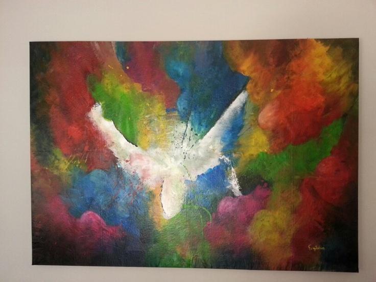 """""""Hope"""", Acrylic on canvas, 170x120cm. Artist: Iliana Gkini (agilecolor)"""