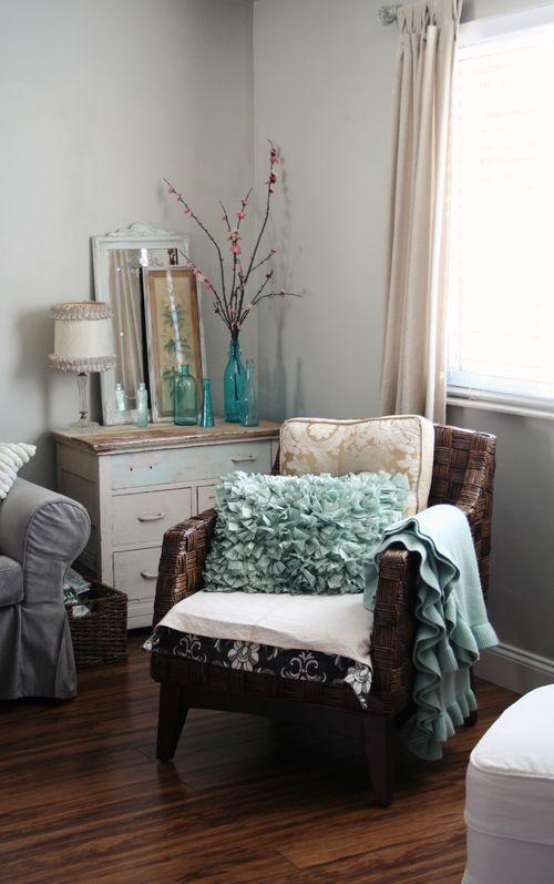 Pillows Aqua And Shabby Chic On Pinterest