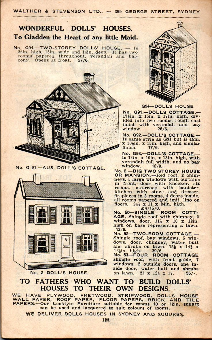 130 best Information/Adverts for Dolls Houses and illustrations ...