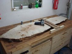 Trim Router Planer Sled and a Big Burly Sycamore Slab