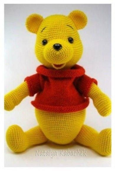 Вязаный медведь Винни Пух - любимый герой детишек и многих взрослых.   [Ссылка...]  на схему.   Кликаем по слову в квадратных скобках.  ...