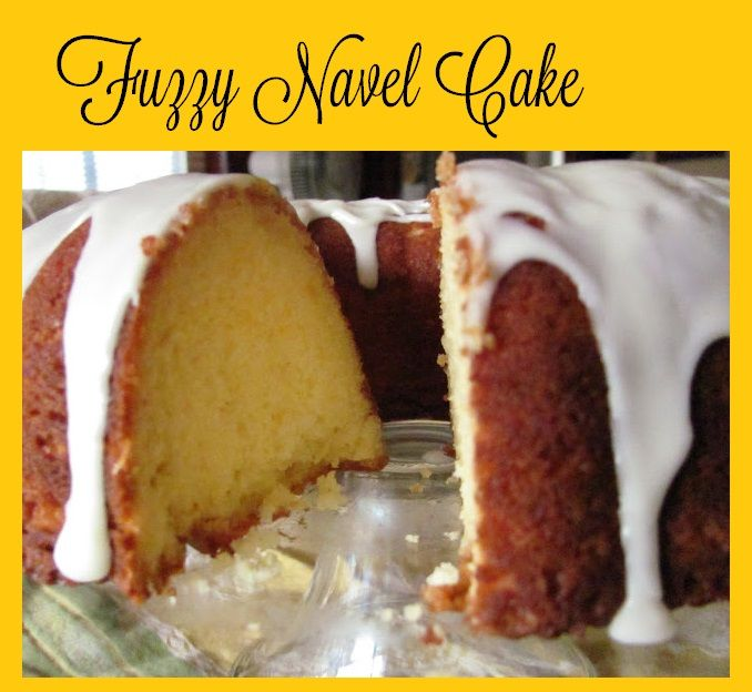 Fuzzy Navel Cake-This is one of the BEST cakes I have ever made! It is easy to make and so moist. If you want great cake, this is it.  (Click picture for recipe)
