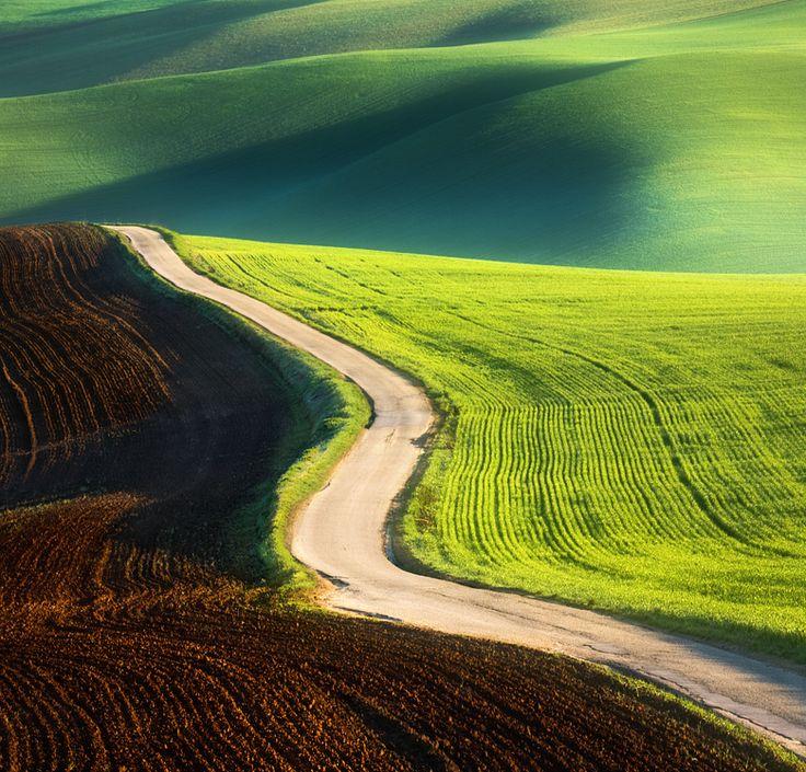 Road by Krzysztof Browko: Photos, Paths, Krzysztof Browko, Colors, Green, Beautiful, Landscape Photography, Dirt Roads, Fields