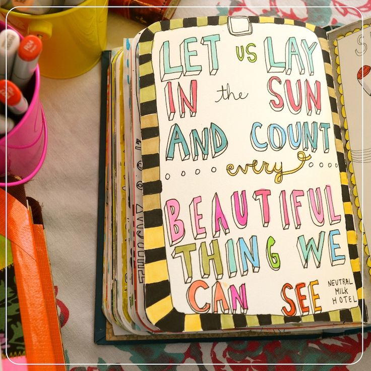 Lyrics #art #journal #sketchbook #lettering by Mary Ann Moss dispatchfromla.com