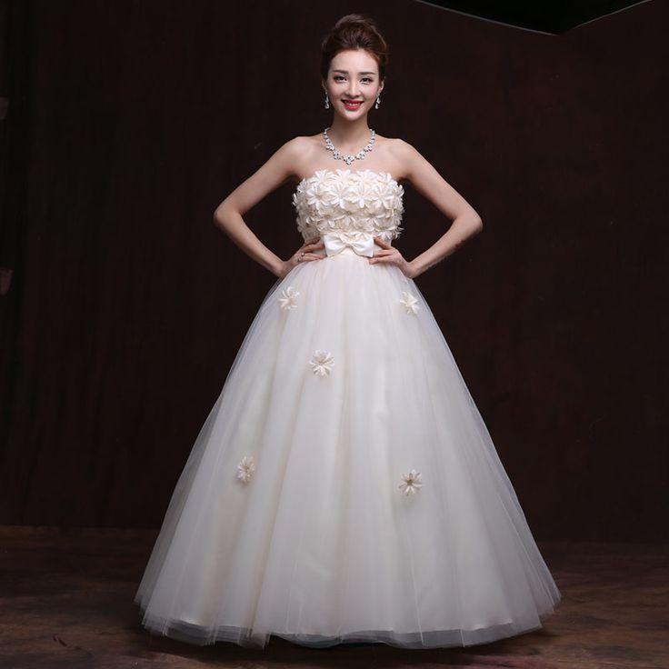Beautiful Vintage Wedding White Lovely Court Style Good Big Size Pregnant Women Wedding Dresses