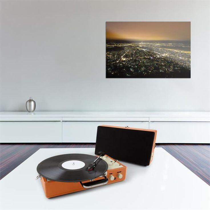 Awesome auna Buckingham Retro Koffer Plattenspieler Lautsprecher AUX orange Zum vergr ern Bild anklicken
