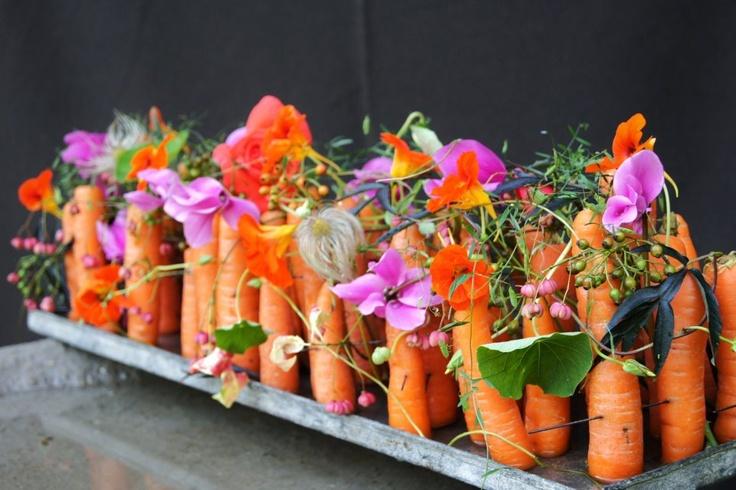 Parallel met wortelen, leuk idee