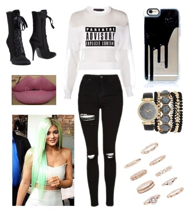 """""""Untitled #496"""" by girlboss7 ❤ liked on Polyvore featuring Alexander Wang, Giuseppe Zanotti, Topshop, Kylie Cosmetics, Jessica Carlyle, Forever 21 and girlboss7"""