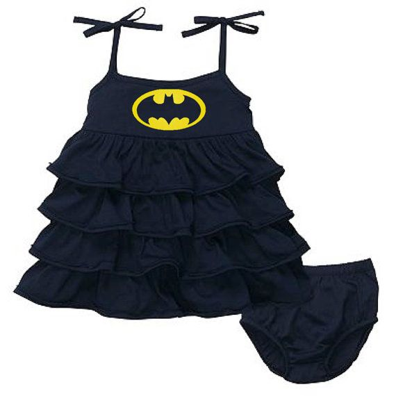 Batman Baby Dress Super Hero Outfit and Bloomers on Etsy, $25.00