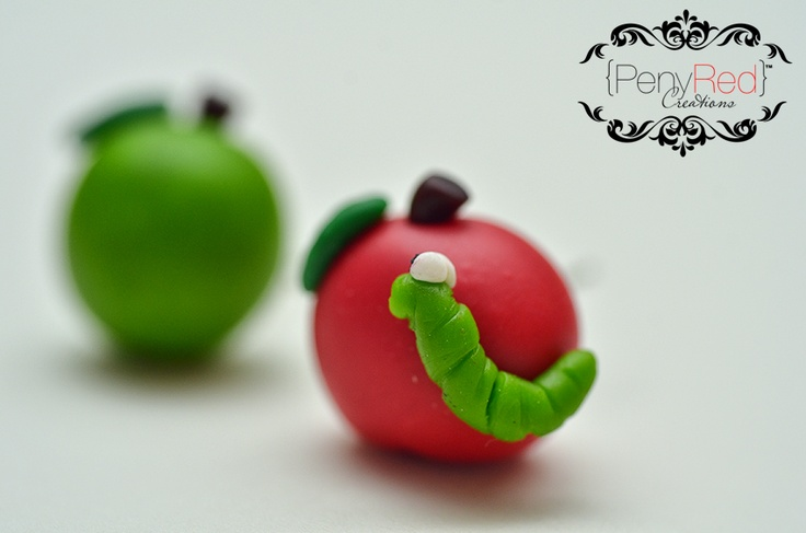 Red and Green Wormie Apple!