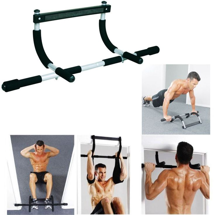 Door Gym Bar Chin Up Pull Up Strength Fitness Situp Dips Body Exercise Workout