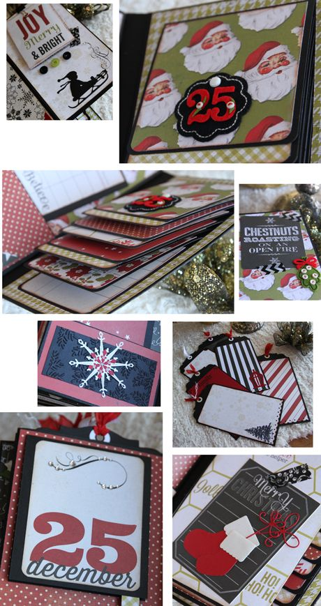 Christmas Paper Bag Mini Album