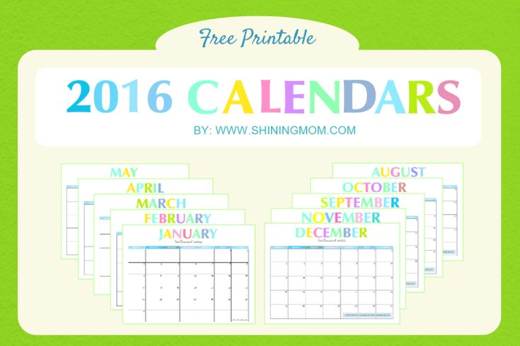 Today on the blog, I am beyond thrilled to present to you our free printable 2016 calendars! Yup, you can already plan your year ahead as I am now releasing our lovely calendars for 2016! // The de...
