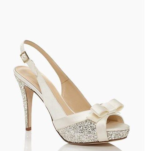 combinacin elegante en zapatos para novias de kate spade new york glitter y lazos