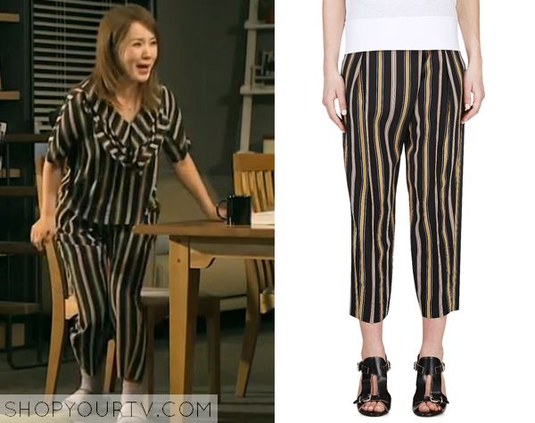 Witch's Romance: Episode 8 Ban Ji Yeon's Black Striped Pants - ShopYourTv