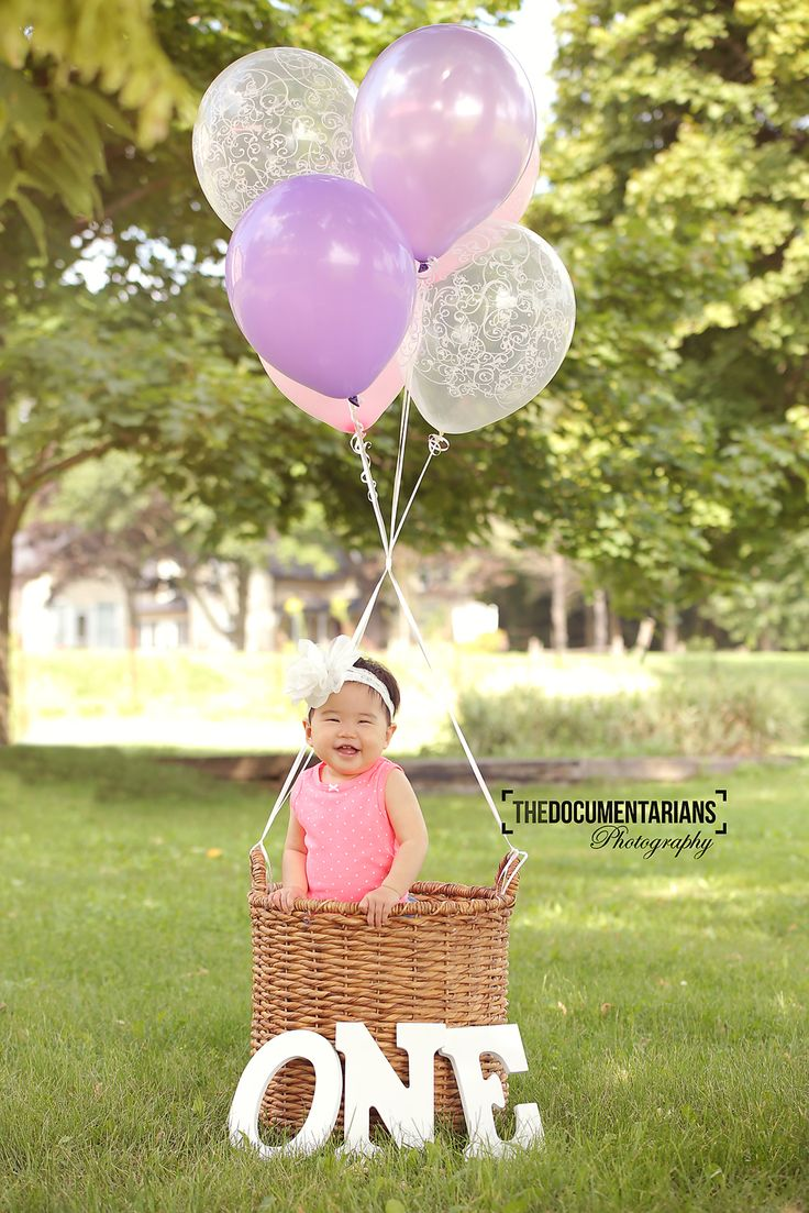 First Birthday hot air balloon photo by The Documentarians Photography