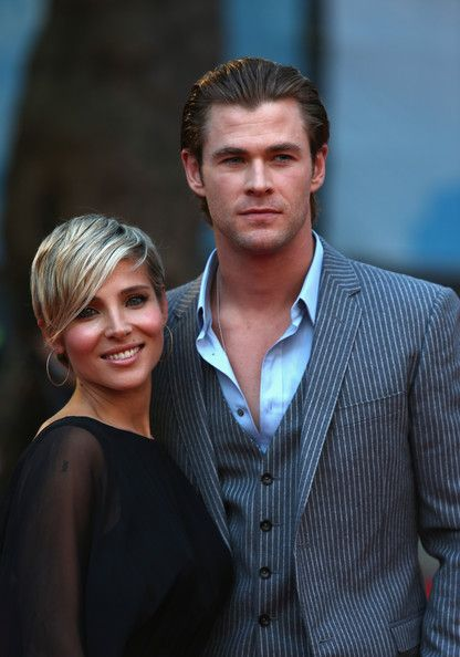 """Chris Hemsworth Elsa Patak Photos - Elsa Pataky and Chris Hemsworth attend the Rush World Premiere at Odeon Leicester Square on September 2, 2013 in London, England. - """"RUSH"""" The Movie World Premiere - Red Carpet"""