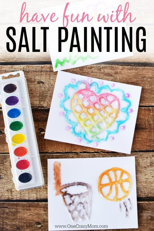 Salt Painting Learn How To Make Salt Art With Your Kids Salt Painting Painting For Kids Art And Craft Videos