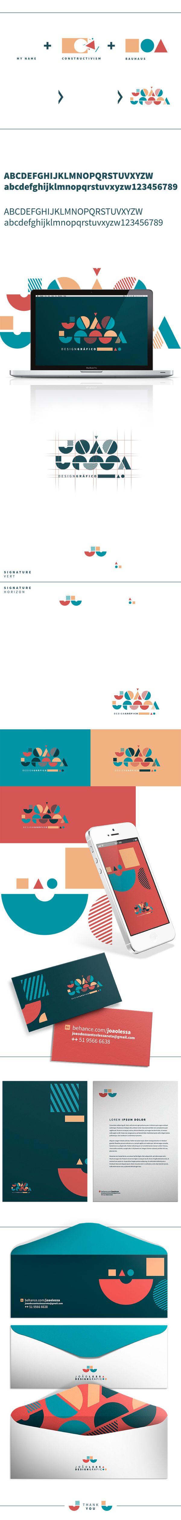 Personal Branding by João Lessa, via Behance